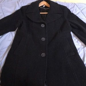 DKNY pea coat with bell sleeves